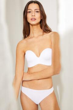 Womensecret Wireless strapless bra white