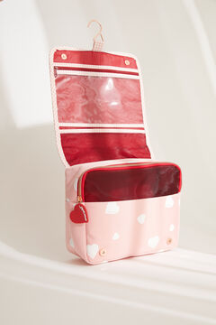 Womensecret Large pink hearts vanity case pink