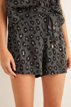 Womensecret Animal print shorts green