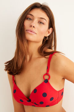 Womensecret Rings bikini top red