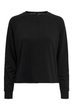 Womensecret Camiseta detalle canalé negro
