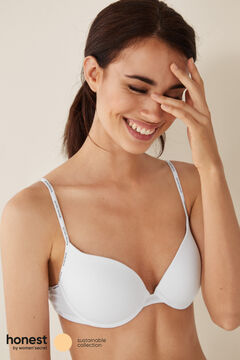 Womensecret Organic cotton push-up bra white