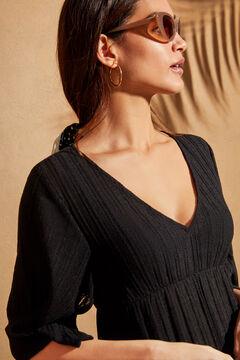 Womensecret Robe ajourée col V noir
