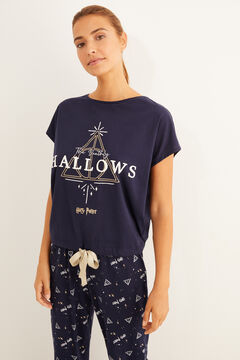 Womensecret Pijama largo Harry Potter azul azul