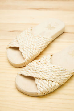 Womensecret Crossover raffia sandals green