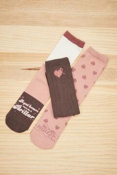Womensecret 3-pack La Vecina Rubia socks printed