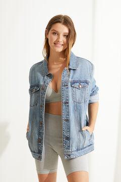 Womensecret Grey ribbed cycling shorts grey