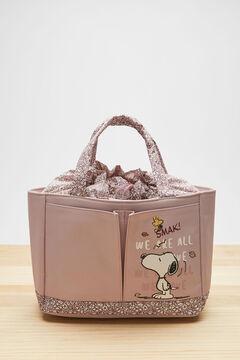 Womensecret Pink Snoopy bag/vanity case pink