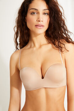 Womensecret Maxi push up strapless bra nude