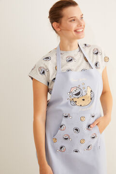 Womensecret Blue apron with a Sesame Street print blue