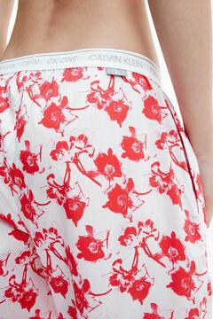 Womensecret Pantalón de pijama con cinturilla de Calvin Klein blanco