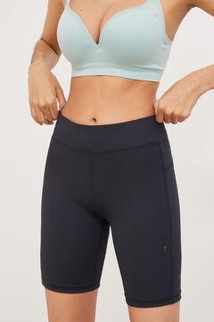 Womensecret Legging cortos entrenamiento negro