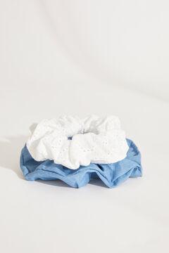 Womensecret Pack 2 scrunchies denim y bordado. estampado