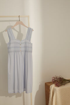 Womensecret Embroidered maternity nightgown blue