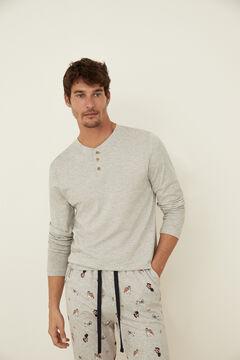 Womensecret Pijama algodón perros gris gris