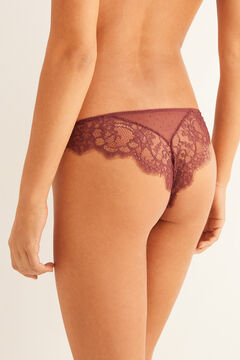 Womensecret Plumetis Brazilian panty red