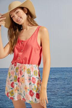 Womensecret T-shirt bretelles 100 % coton corail bordeaux