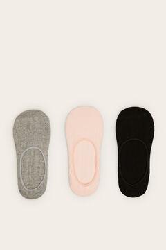 Womensecret Pack of 3 invisible socks white