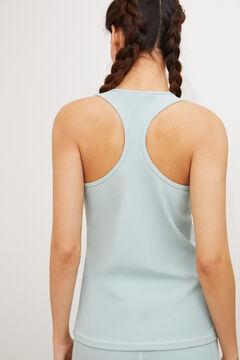 Womensecret Camiseta entrenamiento sin mangas azul