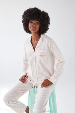 Womensecret Classic striped pyjamas in sustainable cotton red