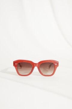 Womensecret Gafas de sol pasta rojo y funda palmeras blanco