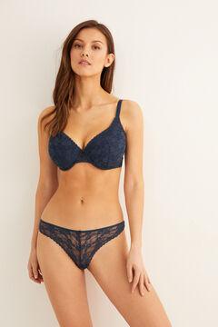 Womensecret Classic lace bra blue
