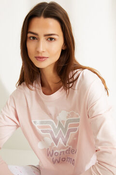 Womensecret Long-sleeved Wonder Woman pyjamas pink