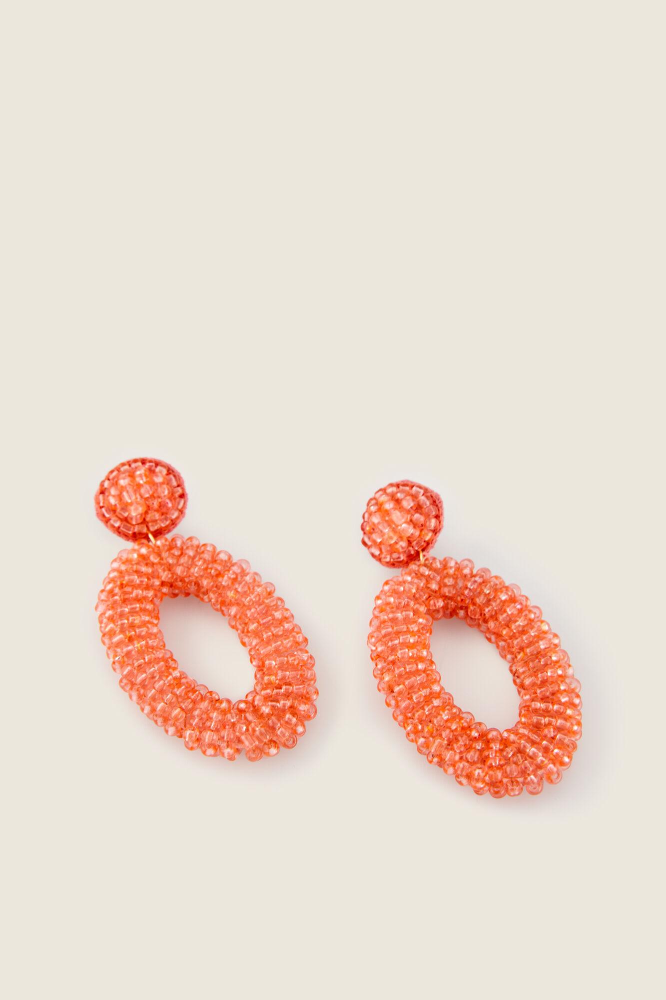 comprar popular 9e7b8 213ad Pendientes cuentas coral