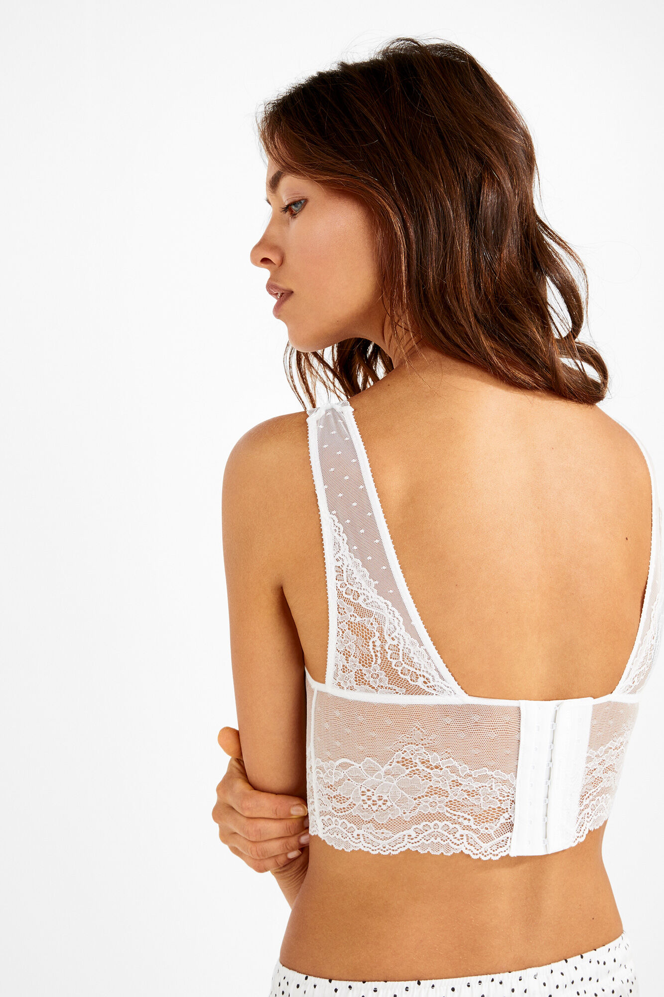 069778203c9fb Lace and plumetti halter bralette. JOLLY. Womensecret. Womensecret.  Womensecret