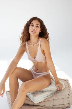 Womensecret Sujetador halter microfibra tul termosellado nude nude