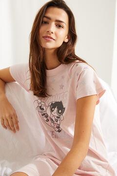 Womensecret Midi-Nachthemd Baumwolle Powerpuff Girls Rosa Rosa