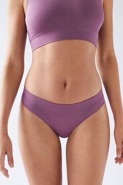 Womensecret Burgundy seam-free Brazilian panty red