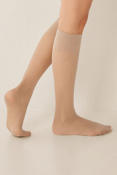 Womensecret 2-pack tan compression stockings nude