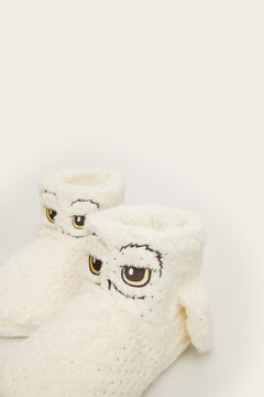 Womensecret Hedwig teddy fur slipper boots beige