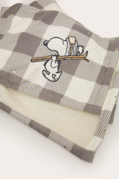 Womensecret Checked Snoopy blanket grey