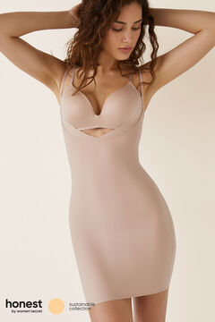 Womensecret Cupless thermoregulatory dress with shaping effect nude