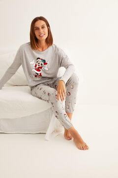 Womensecret Long grey Minnie pyjamas grey