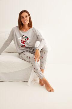Womensecret Minnie mintás, hosszú, szürke pizsama szürke