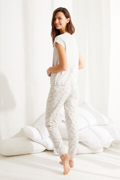 Womensecret Pijama corto Garfield algodón gris
