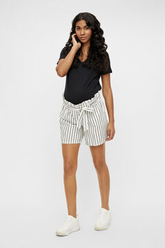 Womensecret Paperbag maternity Bermuda shorts white