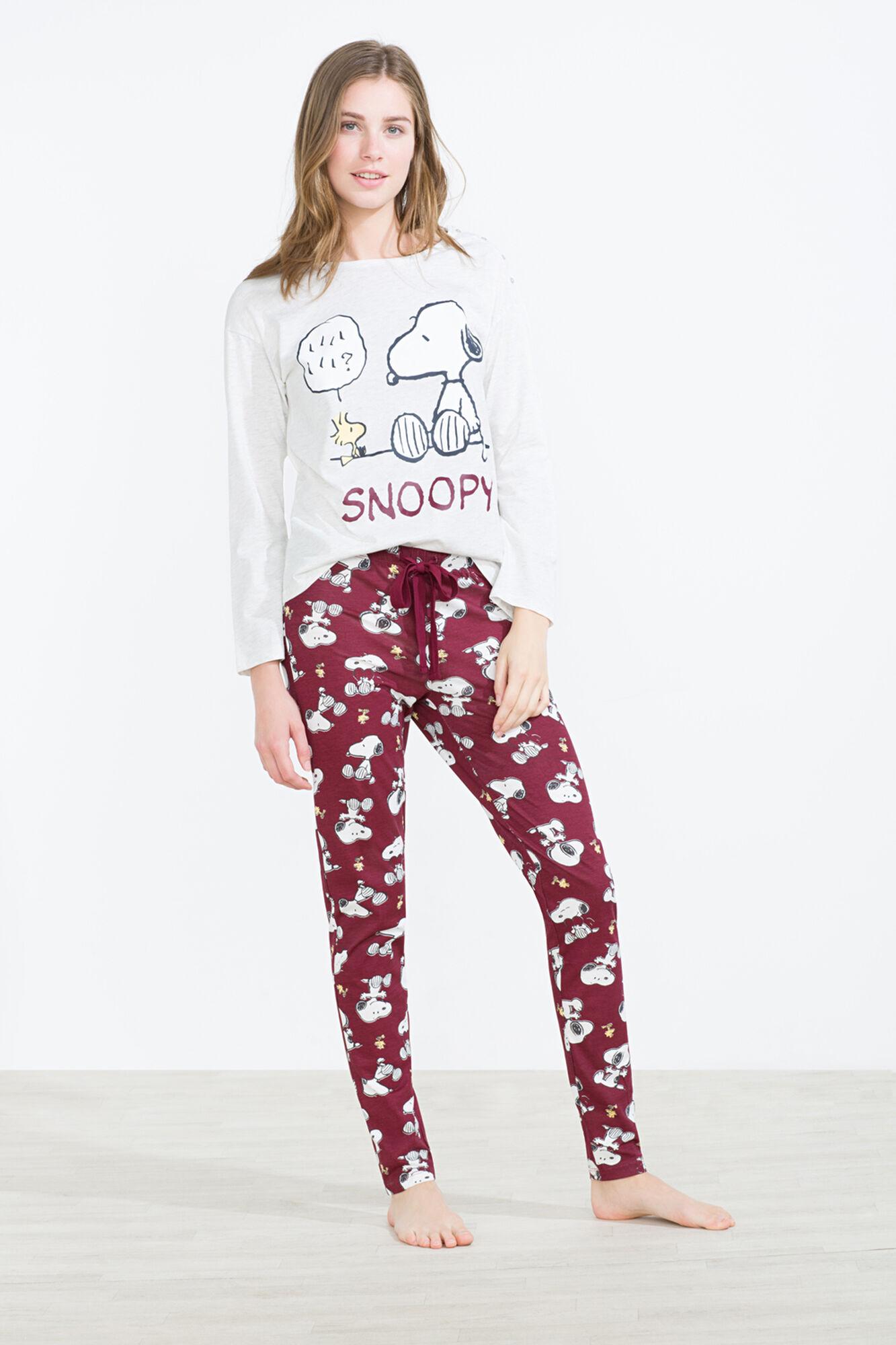 luxe recherche de véritables ventes spéciales Long cotton Snoopy & Woodstock pyjama | Temp anteriores | Women'secret
