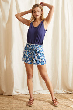 Womensecret Blue tropical print pyjama shorts blue