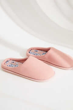 Womensecret Pink cotton slippers pink