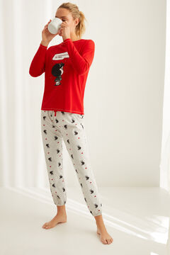 Womensecret Long-sleeved cotton Mafalda pyjamas red