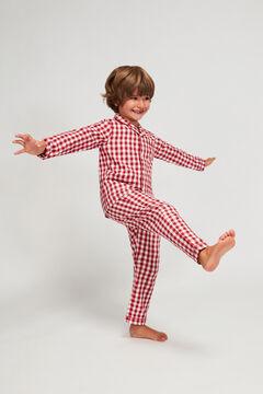 Womensecret Pijama Comprido Xadrez Vichy para menino vermelho