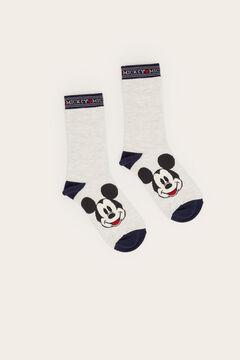 Womensecret Long grey Mickey Mouse socks grey