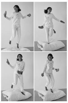 Womensecret Long ivory sponge fleece sailor pyjamas beige