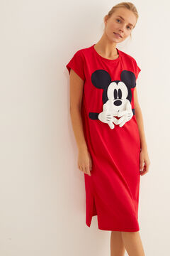 Womensecret Red midi Mickey nightgown red