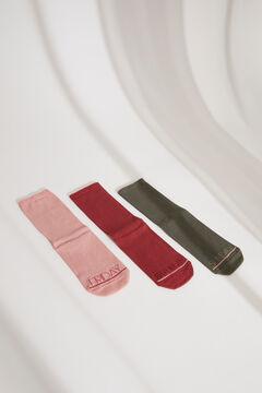 Womensecret Pack de 3 calcetines largos multicolor estampado