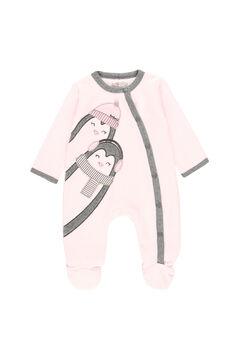 "Womensecret Pelele terciopelo ""pingüino"" de bebé rosa"
